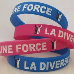 bracelet bleu et rouge